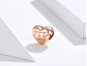 Rose Gold Forever & Always Charm Sterling Silver | Loulu Charms