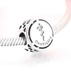 Dentist Charm Sterling Silver - Dentistry Charm | Loulu Charms