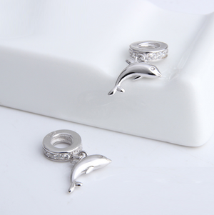 Dolphin Charm Sterling Silver | Loulu Charms