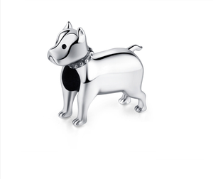 Boxer Dog Charm Sterling Silver