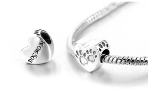 Dog Mom Charm Sterling Silver