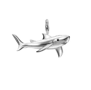 Great White Shark Pendant Sterling Silver | Loulu Charms