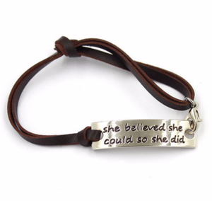 Inspirational Bracelet - She Believed She Could So She Did Bracelet