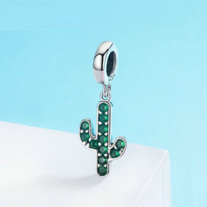 Cactus Charm Sterling Silver