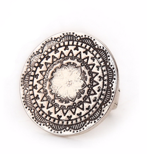 Flower Mandala Gypsy Ring | Loulu Charms