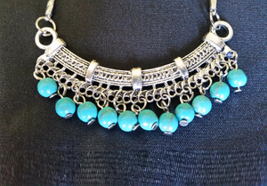 Boho Turquoise Necklace | Gypsy Necklace