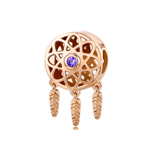 Rose Gold Dream Catcher Charm Sterling Silver | Loulu Charms