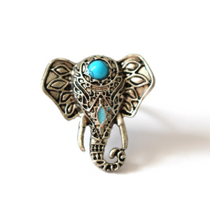 Turquoise Elephant Ring | Loulu Charms