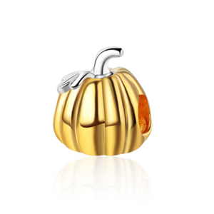 Gold Pumpkin Charm Sterling Silver | Loulu Charms