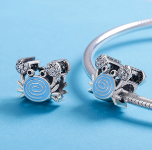Blue Crab Charm Sterling Silver fit Pandora Bracelet | Loulu Charms