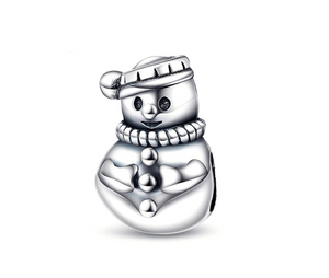 Snowman Charm Sterling Silver
