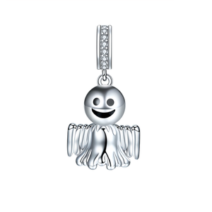 Halloween Ghost Charm Sterling Silver fit Pandora | Loulu Charms