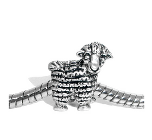 Silver Sheep Charm | Loulu Charms