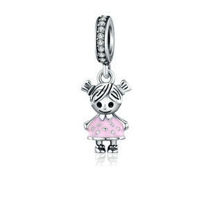 Little Girl Charm Sterling Silver