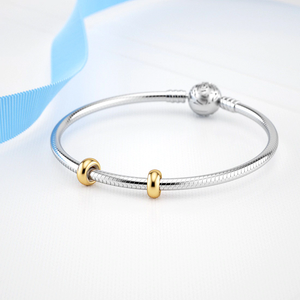 Gold Stopper Charms Sterling Silver fit Pandora Bracelet | Loulu Charms