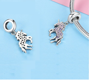 Unicorn Charm Sterling Silver | Loulu Charms