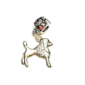 Silver Poodle Dangle Charm