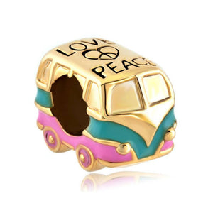Hippie Bus Charm  - Love Peace Charm