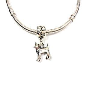 Silver Chihuahua Dangle Charm