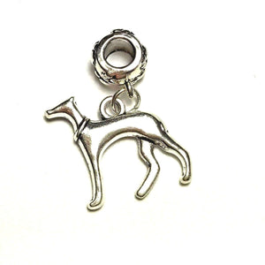 Silver Greyhound Dangle Charm