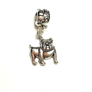 Silver Bulldog Dangle Charm