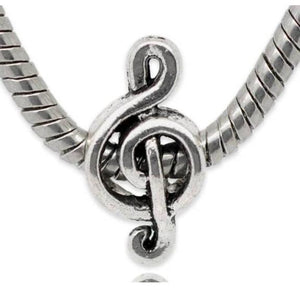 Silver Music Note Charm
