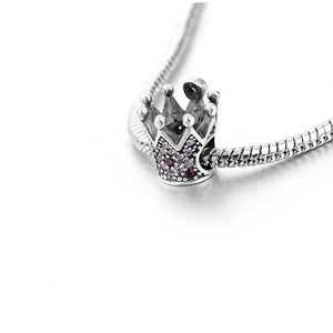Sterling Silver Crown Charm - Queen Charm