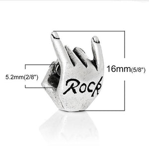 Silver Rock Hand Charm
