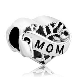 Sterling Silver Mom Charm - I Love You Mom Charm