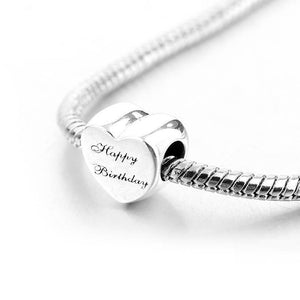 Sterling Silver Happy Birthday Charm