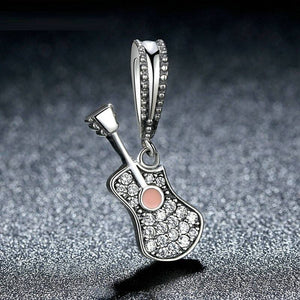 Sterling Silver Guitar Charm