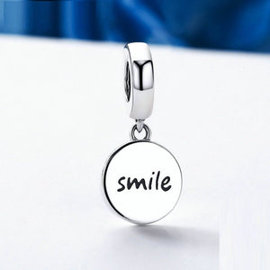 Smiley Face Happiness Charm Sterling Silver