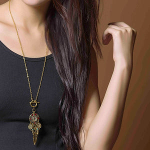 Bohemian Coins Necklace | Gypsy Necklace | Feathers Necklace