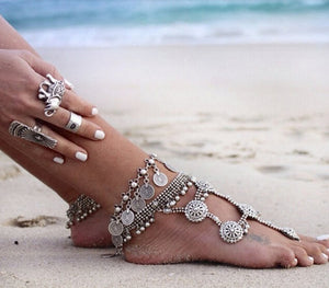 Gypsy Anklet, Ankle Bracelet - Gold or Silver