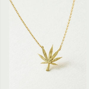 Marijuana Leaf Necklace | Weed Leaf Necklace