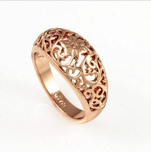 Rose Gold Filigree Flower Ring | Loulu Charms