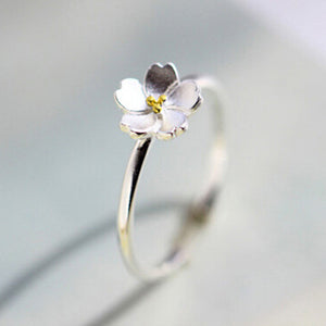 Cherry Blossom Flower Ring | Loulu Charms