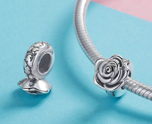 Silver Rose Charm Sterling Silver