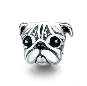 Pug Charm Sterling Silver