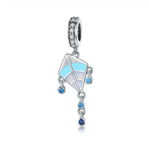 Kite Charm Sterling Silver | Loulu Charms