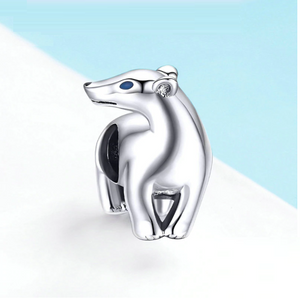 Polar bear Charm Sterling Silver