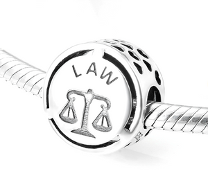Law Charm Sterling Silver | Loulu Charms