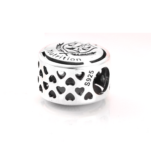 Nutrition Charm Sterling Silver - Nutritionist Charm | Loulu Charms