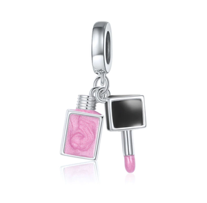 Nail Polish Charm Sterling Silver for Charm Bracelet | Loulu Charms