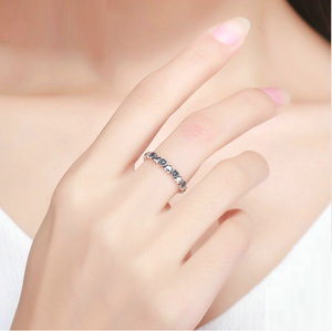 Endless Love Heart Stacking Ring Sterling Silver | Loulu Charms