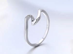 Silver Wave Ring Sterling Silver