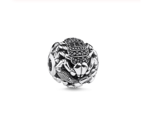 Scorpion Black Rhinestone Bead | Loulu Charms