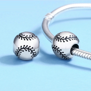 Baseball Charm Sterling Silver