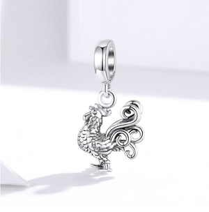 Rooster Charm Sterling Silver | Loulu Charms
