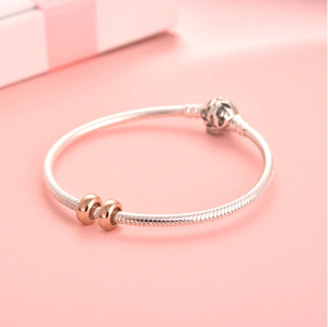 Rose Gold Stopper Charms Sterling Silver | Loulu Charms